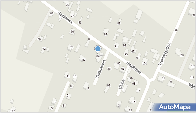 Wacyn, Szafirowa, 84, mapa Wacyn
