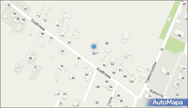 Wacyn, Szafirowa, 87, mapa Wacyn