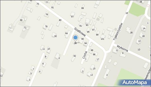 Wacyn, Szafirowa, 88, mapa Wacyn