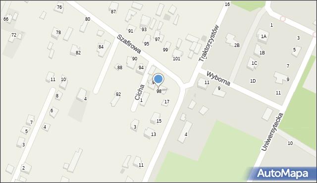 Wacyn, Szafirowa, 98, mapa Wacyn