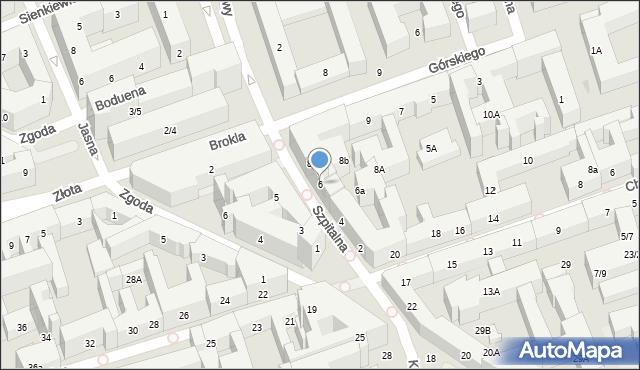 Warszawa, Szpitalna, 6, mapa Warszawy