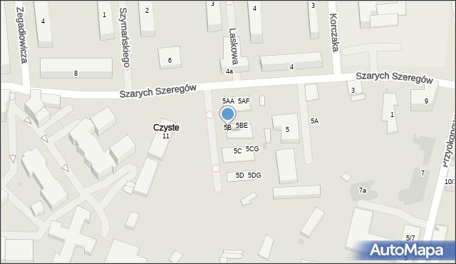 Warszawa, Szarych Szeregów, 5BT, mapa Warszawy