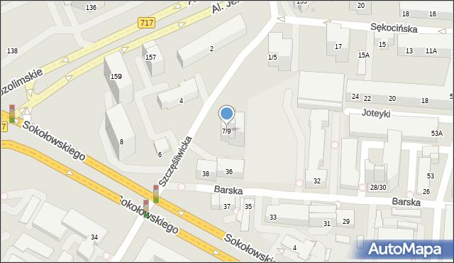 Warszawa, Szczęśliwicka, 7/9, mapa Warszawy