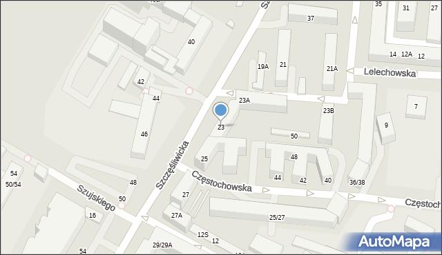 Warszawa, Szczęśliwicka, 23, mapa Warszawy