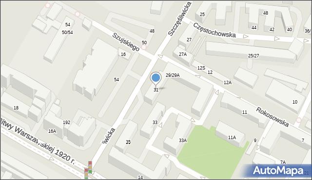 Warszawa, Szczęśliwicka, 31, mapa Warszawy
