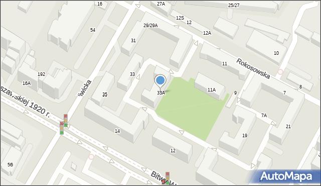 Warszawa, Szczęśliwicka, 33A, mapa Warszawy