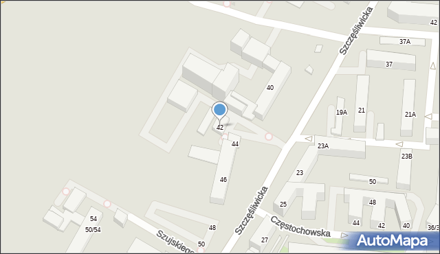 Warszawa, Szczęśliwicka, 42, mapa Warszawy