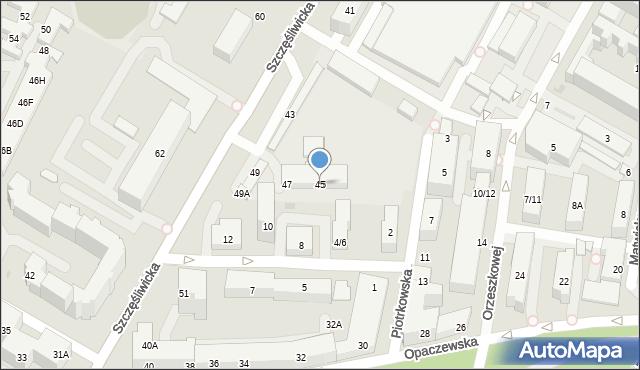 Warszawa, Szczęśliwicka, 45, mapa Warszawy
