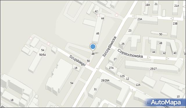 Warszawa, Szczęśliwicka, 48, mapa Warszawy