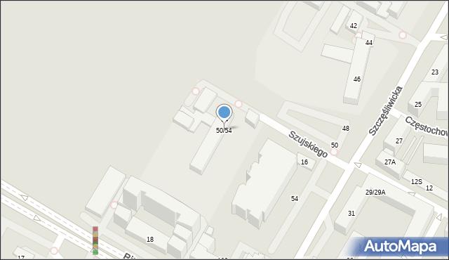 Warszawa, Szczęśliwicka, 50/54, mapa Warszawy
