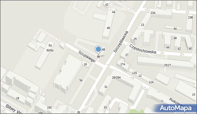 Warszawa, Szczęśliwicka, 50, mapa Warszawy