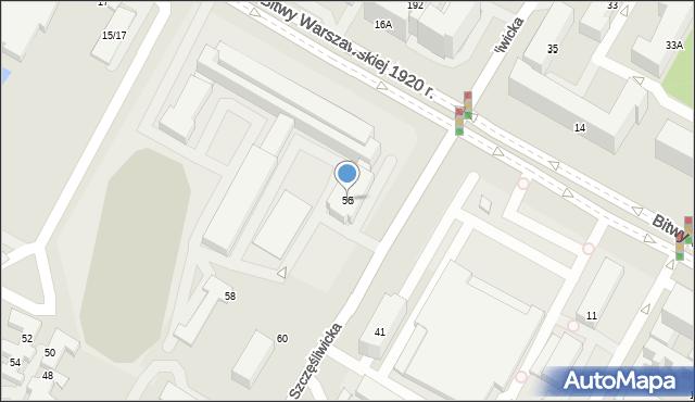 Warszawa, Szczęśliwicka, 56, mapa Warszawy