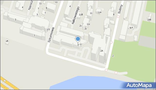 Warszawa, Szturmowa, 2, mapa Warszawy
