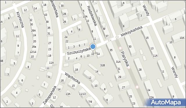 Warszawa, Szczuczyńska, 12, mapa Warszawy