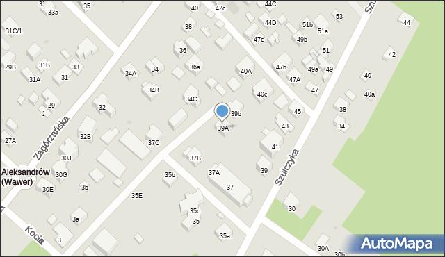 Warszawa, Szulczyka Sylwestra, ks., 39A, mapa Warszawy