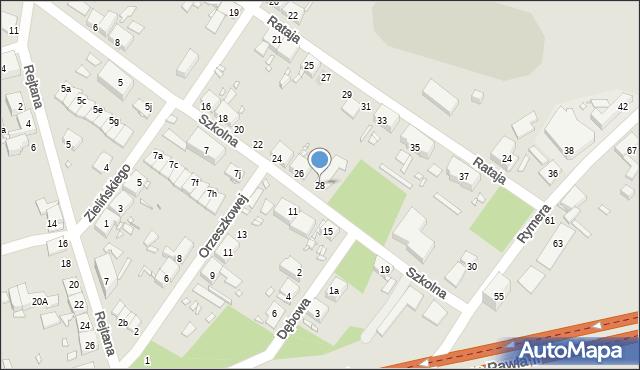 Zabrze, Szkolna, 28, mapa Zabrza