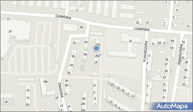 Zabrze, Szpitalna, 15A, mapa Zabrza