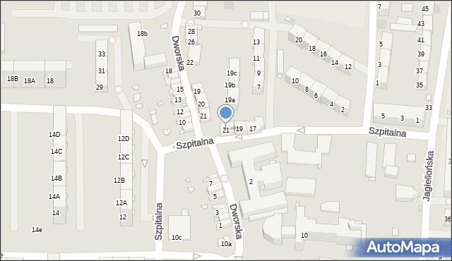 Zabrze, Szpitalna, 21, mapa Zabrza