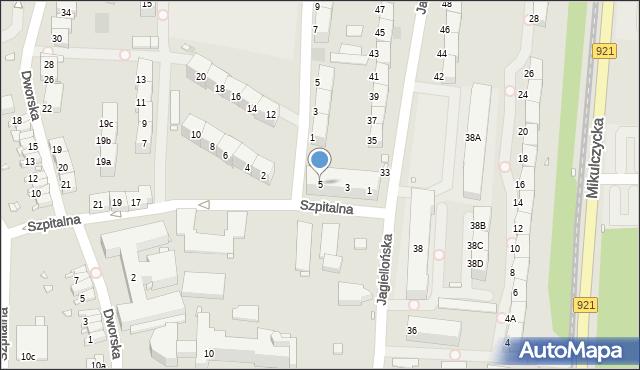Zabrze, Szpitalna, 5, mapa Zabrza