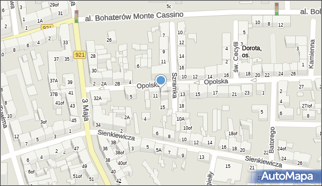 Zabrze, Szramka, ks. dr., 13, mapa Zabrza