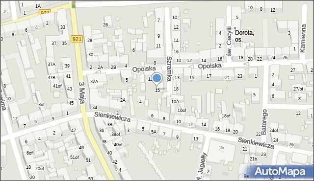 Zabrze, Szramka, ks. dr., 15, mapa Zabrza