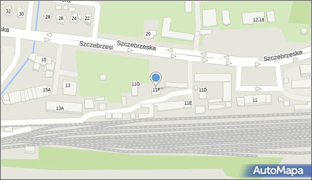 Zamość, Szczebrzeska, 11F, mapa Zamościa