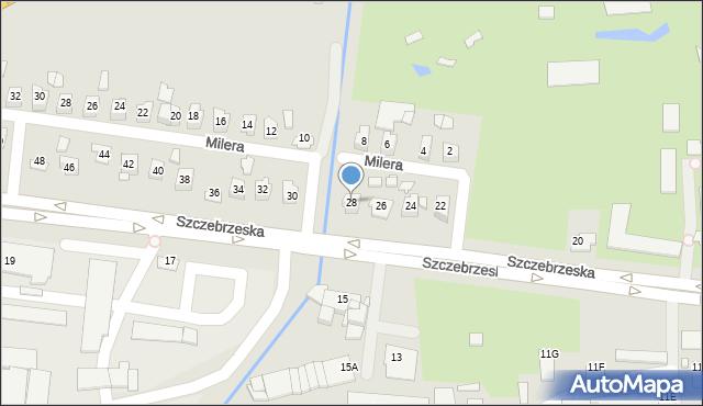 Zamość, Szczebrzeska, 28, mapa Zamościa