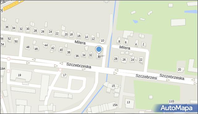 Zamość, Szczebrzeska, 30, mapa Zamościa
