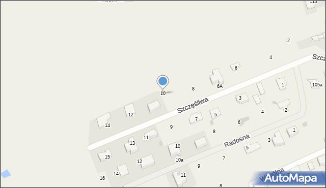 Żółtańce-Kolonia, Szczęśliwa, 10, mapa Żółtańce-Kolonia