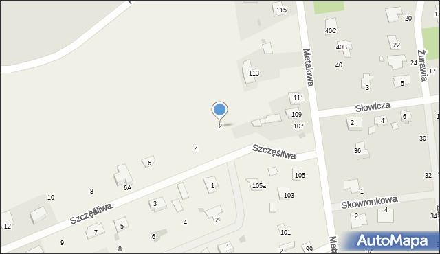 Żółtańce-Kolonia, Szczęśliwa, 2, mapa Żółtańce-Kolonia