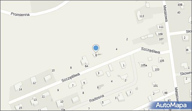 Żółtańce-Kolonia, Szczęśliwa, 6, mapa Żółtańce-Kolonia