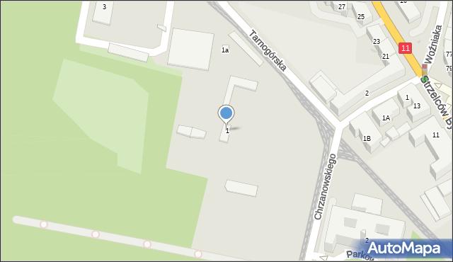 Bytom, Tarnogórska, 1, mapa Bytomia