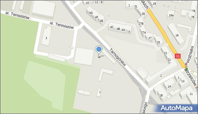 Bytom, Tarnogórska, 1a, mapa Bytomia