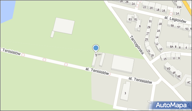 Bytom, Tarnogórska, 5, mapa Bytomia