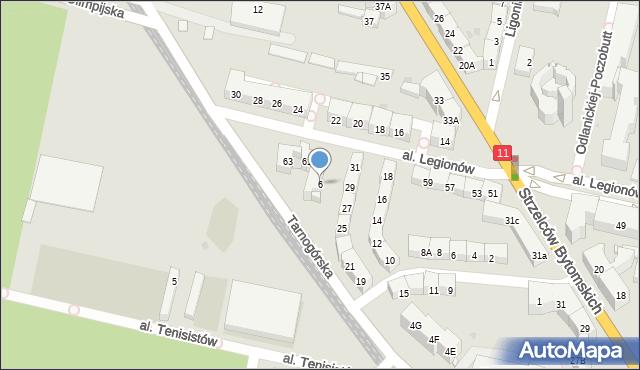 Bytom, Tarnogórska, 6, mapa Bytomia