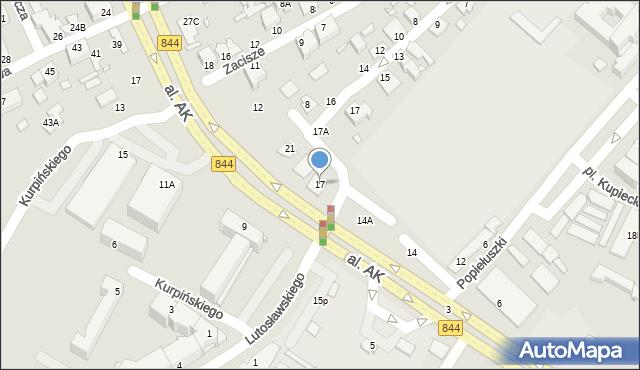 Chełm, Targowa, 17, mapa Chełma