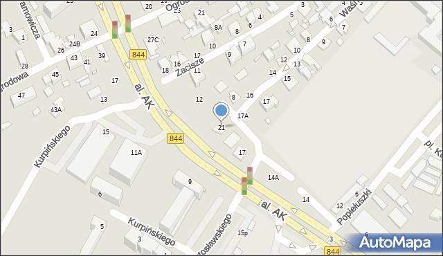 Chełm, Targowa, 21, mapa Chełma