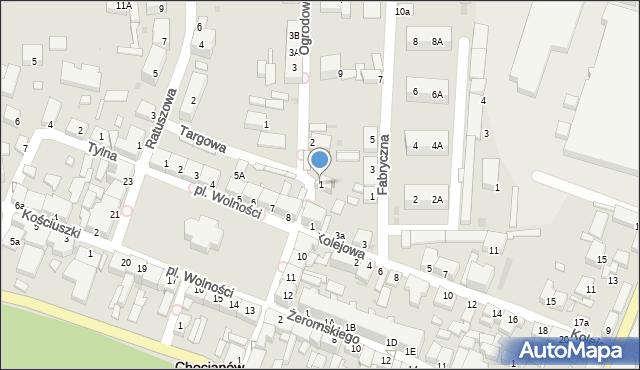 Chocianów, Targowa, 1, mapa Chocianów