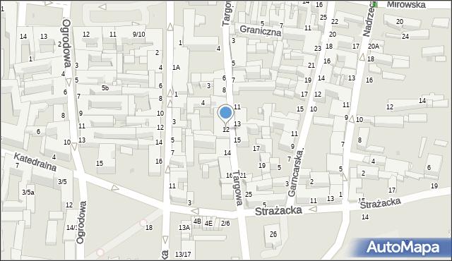 Częstochowa, Targowa, 12, mapa Częstochowy