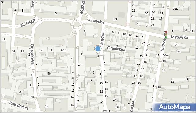 Częstochowa, Targowa, 4, mapa Częstochowy