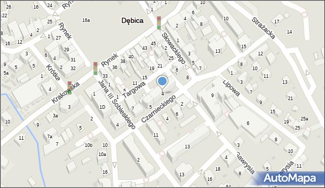 Dębica, Targowa, 4, mapa Dębicy