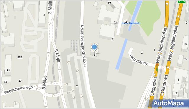 Gdańsk, Targ Sienny, 5, mapa Gdańska