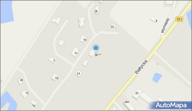 Kętrzyn, Targowa, 18, mapa Kętrzyn