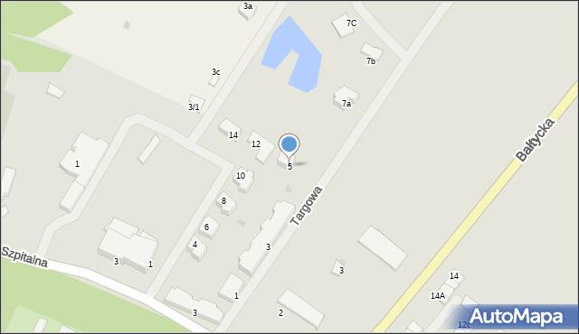 Kętrzyn, Targowa, 5, mapa Kętrzyn