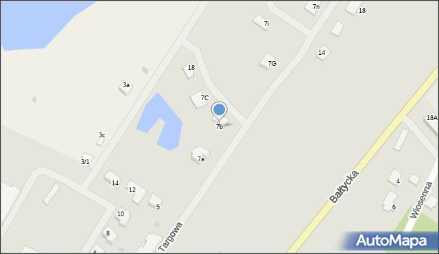 Kętrzyn, Targowa, 7b, mapa Kętrzyn