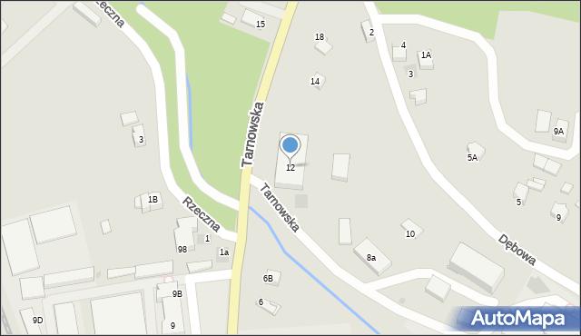 Limanowa, Tarnowska, 12, mapa Limanowa