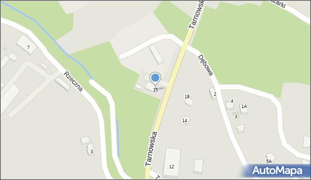 Limanowa, Tarnowska, 15, mapa Limanowa