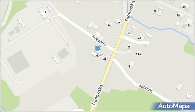 Limanowa, Tarnowska, 21A, mapa Limanowa