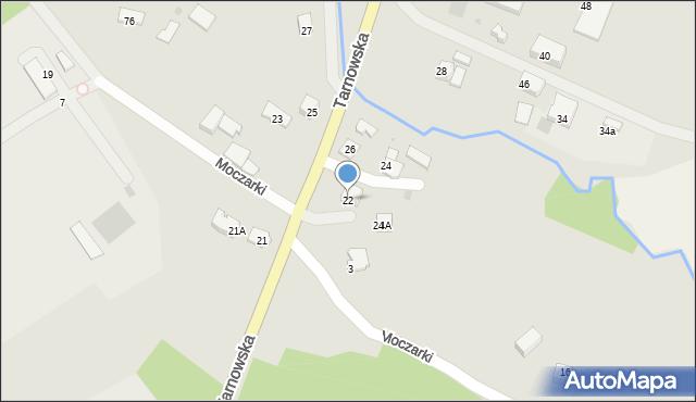 Limanowa, Tarnowska, 22, mapa Limanowa