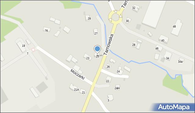 Limanowa, Tarnowska, 25, mapa Limanowa
